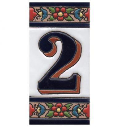 Spaanse keramische tegelletters en cijfers